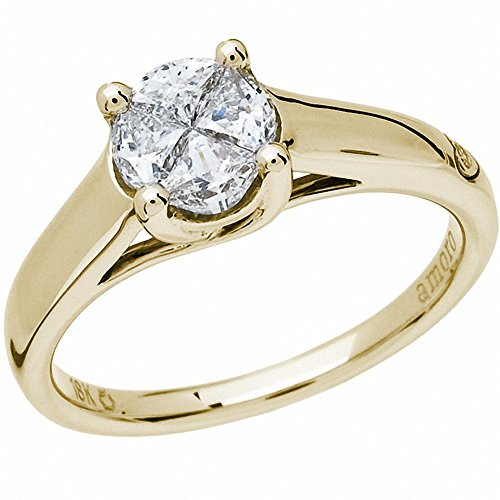 Quattour for Amoro Diamond Ring in 18kt Yellow Gold From Amoro