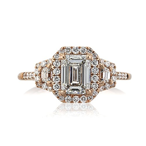 Mark Broumand 1.90ct Emerald Cut Diamond Engagement Ring