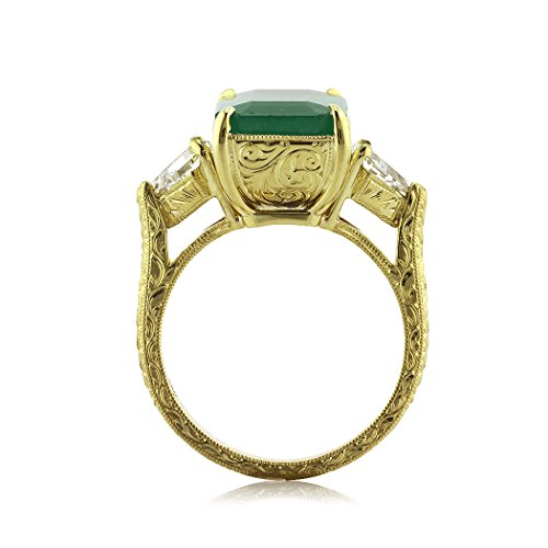 Mark Broumand 6.35ct Emerald and Diamond Three-Stone Ring From Mark Broumand Price:$17,245.00