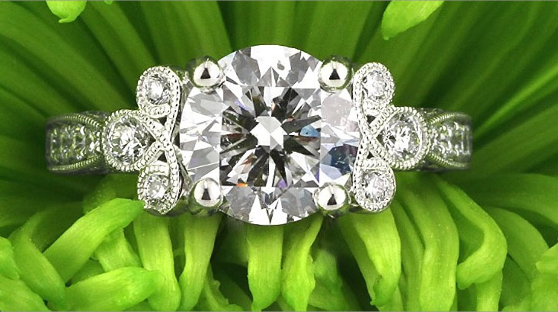 Mark Broumand 3.54ct Round Brilliant Cut Diamond Engagement Ring