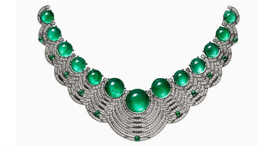 Emerald and Diamond Necklace by Cartier